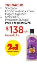 Oferta de Shampoo edicion invierno tio nacho por $138