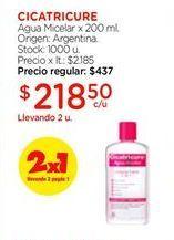 Oferta de Agua micelar x20ml CICATRICURE  por $218,5