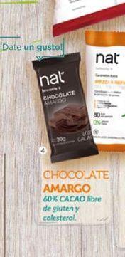 Oferta de Chocolate amargo Nat x 30 Gr por $27,5