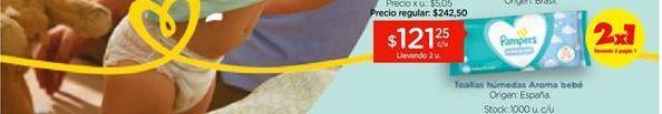 Oferta de Toallitas Húmedas Pampers Limpieza Completa Aroma de Bebé x 48 un por $121,25