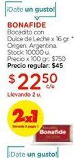 Oferta de Bocadito con dulce de leche x 16gr Bonafide por $22,5