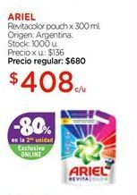 Oferta de Ariel Detergente Líquido Ariel Revitacolor x 3 l por $408