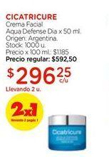 Oferta de Crema facial aqua defense dia x 50ml Cicatricure por $296,25