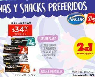 Oferta de Chicles sin azúcar TOPLINE SEVEN por $34,5