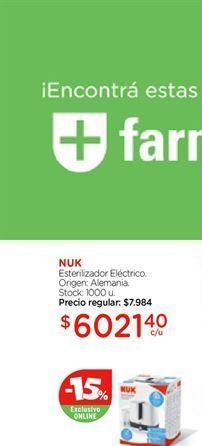 Oferta de Esterilizador Eléctrico NUK  por $6021,4