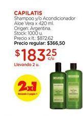Oferta de Shampooy/o acondicionador Aloe vera Capilatis por $183,25