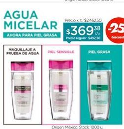 Oferta de LOREALAgua Micelar Desmaquillante x 200 ml. por $369,38