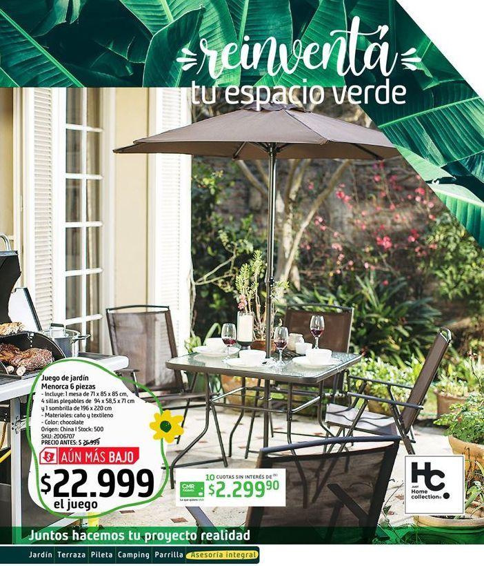 Oferta de Comedor de jardín Menorca 6 piezas por $22999