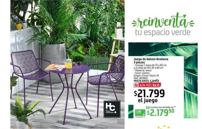 Oferta de Juego de balcon Anakena 3 piezas por $21799