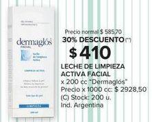 Oferta de Leche limpiadora Dermaglós por $410