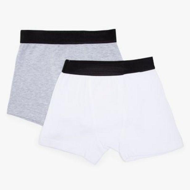 Oferta de Pack por 2 boxers lisos 10 a 16 por $799