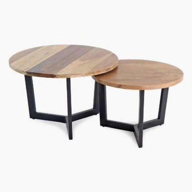Oferta de Set por 2 mesas de centro Circular por $24890