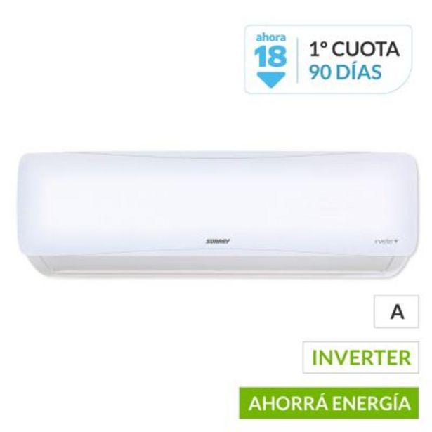 Oferta de Aire acondicionado Split 553AIQ1201F frío-calor inverter 2900 frigorías por $68399