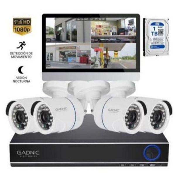 Oferta de Set de seguridad Dvr 4 cámaras  Ip Hd P2p por $17999