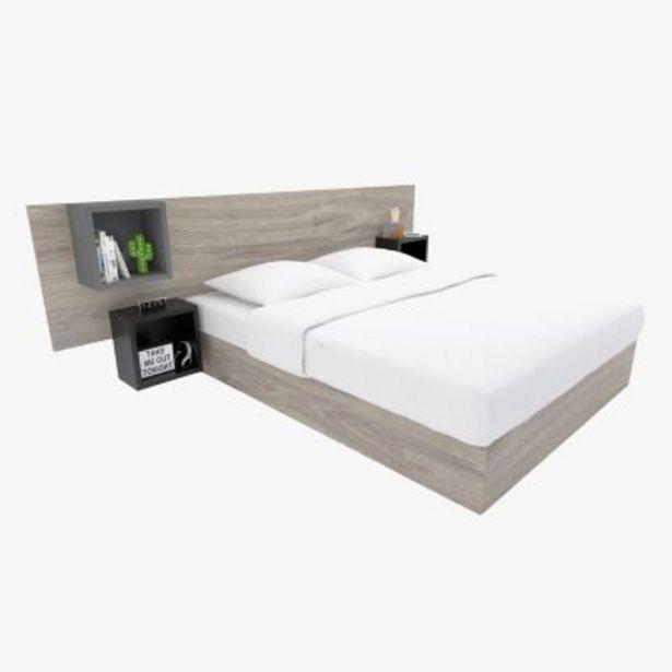 Oferta de Respaldo de cama con mesa de luz Jurs queen por $25390