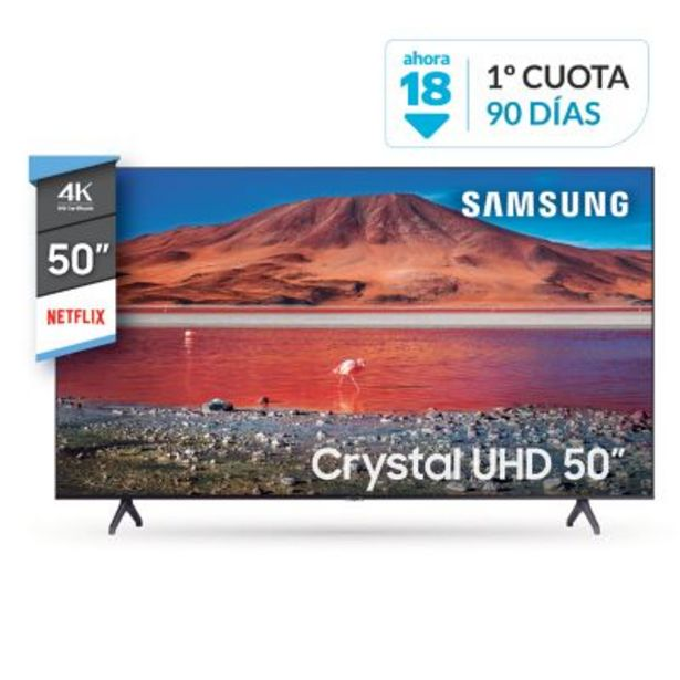 "Oferta de Smart TV 50"" UN50TU7000GCZB 4K Ultra HD por $62999"