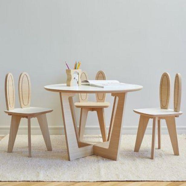 Oferta de Juego de mesa Roma y 3 sillas Conejo por $12990