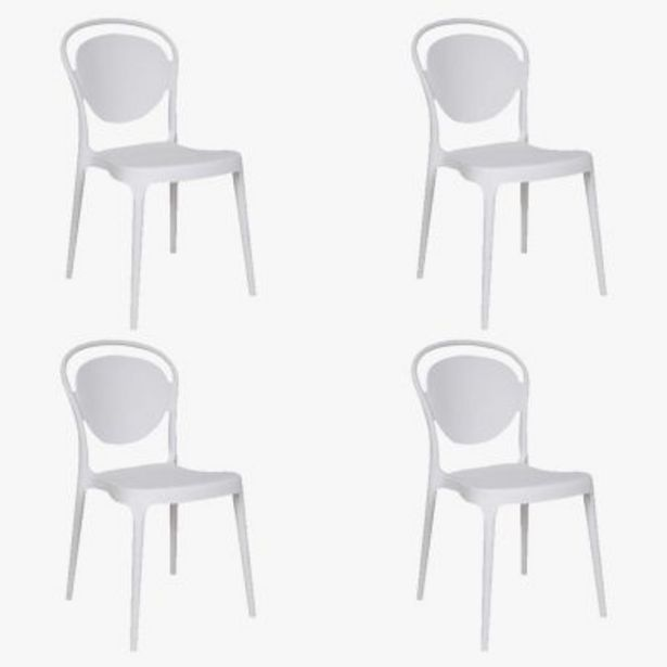 Oferta de Set por 4 sillas de comedor King por $25490