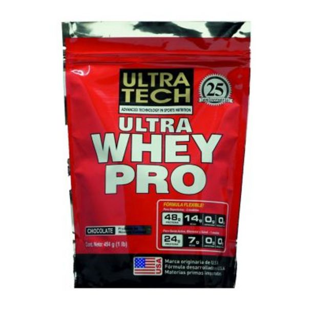 Oferta de Ultra whey pro 454 g (1 libra) chocolate por $969