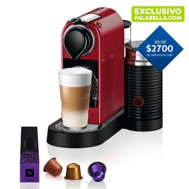 Oferta de Cafetera express Citiz & milk cherry color exclusivo por $22999