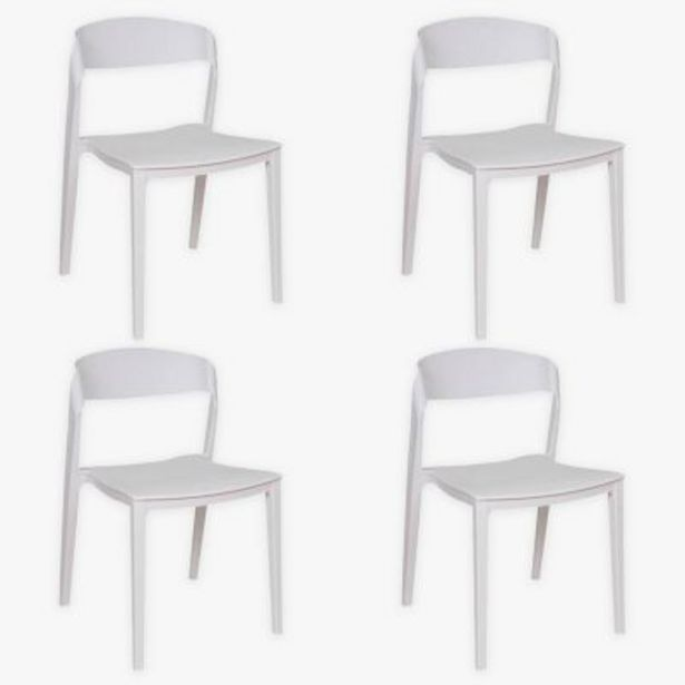 Oferta de Set por 4 sillas de comedor Unique por $36990