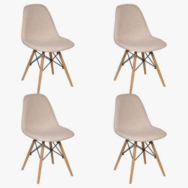 Oferta de Set por 4 sillas de comedor lino Eames por $25899