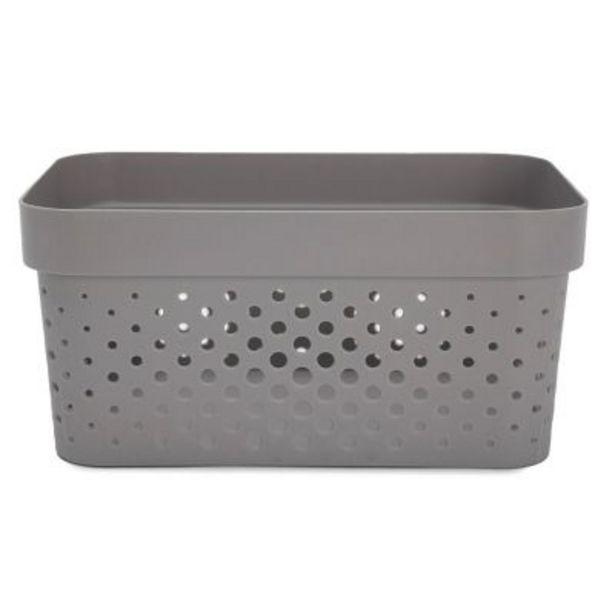 Oferta de Caja organizadora grey 25.5x17x12.3 cm por $413