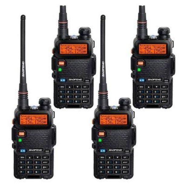 Oferta de Set por 4 walkie talkies 50km doble banda KWALKIEXX4 por $15799