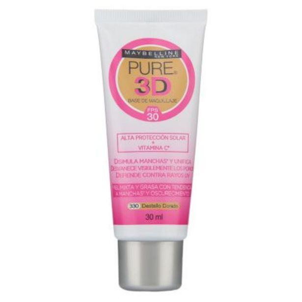 Oferta de Base de maquillaje Pure Makeup 3D SPF30 30ml por $696