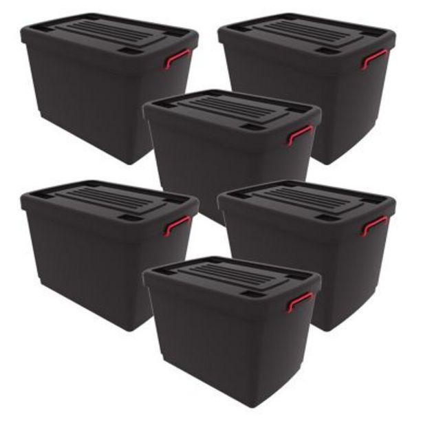 Oferta de Set por 5 contenedores Heavy box 95lt por $10999