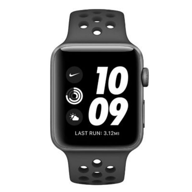 Oferta de Watch Nike Series 3 GPS 42mm space grey/black por $60177