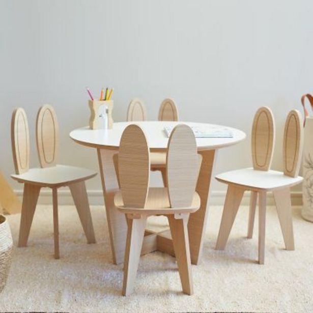 Oferta de Juego de mesa Roma y 4 sillas Conejo por $16290