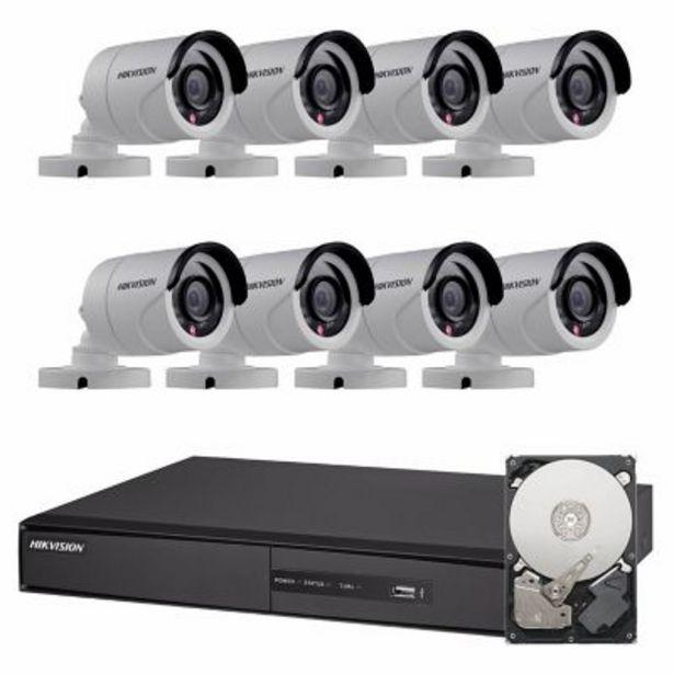 Oferta de Sistema de seguridad de 8 cámaras + DVR de 16 canales + disco rígido 1TB por $59886
