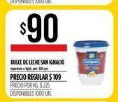 Oferta de Dulce de leche San Ignacio 400grs por $90