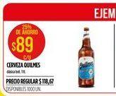 Oferta de Cerveza Quilmes 1lt por $89