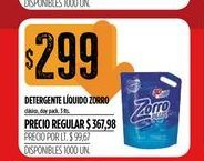 Oferta de Detergente líquido Zorro por $299