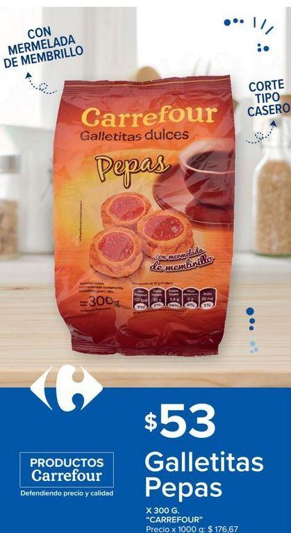 Oferta de Galletitas Pepas x 300grs por $53