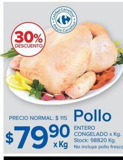 Oferta de Pollo entero congelado  por $79,9