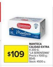 Oferta de Manteca calidad extra La Serenísima por $109