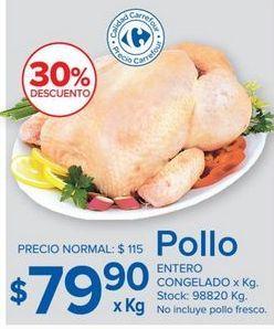 Oferta de Pollo por $79,9