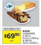 Oferta de Budín v/sabores x 180gr  por $69,9