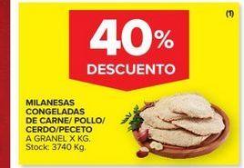 Oferta de Milanesas congeladas de carne/pollo/cerdo /peceto  por