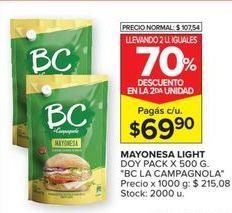 Oferta de Mayonesa BC por $69,9