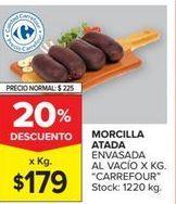 Oferta de Morcilla atada envasada al vacio CARREFOUR  por $179