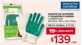 Oferta de Guantes de jardín Carrefour por $139