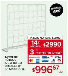 Oferta de Arco de fútbol Aimaretti por $2990