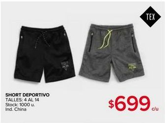 Oferta de Short deportivo por $699