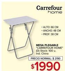 Oferta de Mesa plegable Carrefour home por $1990
