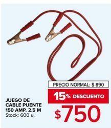 Oferta de Juegue de cable puente por $750