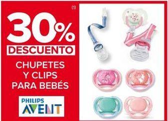 Oferta de Chupete y clips para bebés Avent por